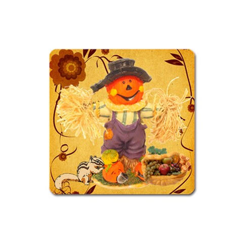 Thanksgiving Magnet By Maryanne   Magnet (square)   C4vqd9316k5a   Www Artscow Com Front