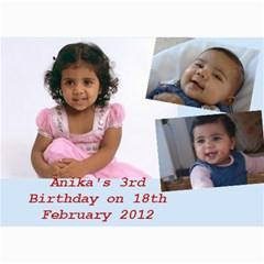 Anika s Birthday By Bhumi   5  X 7  Photo Cards   K2lqfvk4r8cl   Www Artscow Com 7 x5 Photo Card - 5