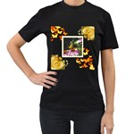 Butterfly Black T shirt - Women s T-Shirt (Black)