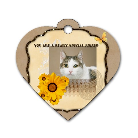 Friendship By Joely   Dog Tag Heart (one Side)   Z9wtl81b351l   Www Artscow Com Front