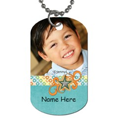 Dog Tag (two Sides): Cool Dude2 By Jennyl   Dog Tag (two Sides)   Pu600vn5omwo   Www Artscow Com Back