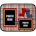 Lone Star Holidays 2 Sided Blanket 1 - Double Sided Fleece Blanket (Mini)