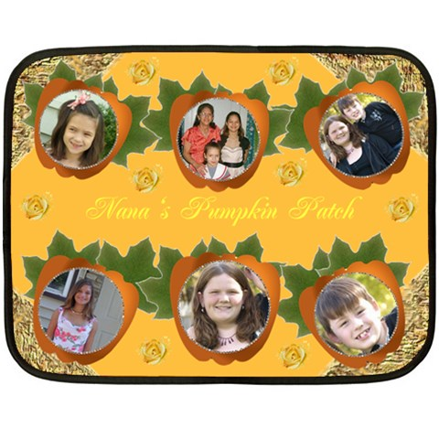 Gramma s Pumpkin Patch By Kim Blair   Fleece Blanket (mini)   9pb1z4ytmpue   Www Artscow Com 35 x27 Blanket