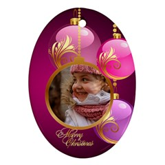 Christmas Oval Ornament 2 (2 Sided) By Deborah   Oval Ornament (two Sides)   Pxdhq3lfjcpf   Www Artscow Com Back