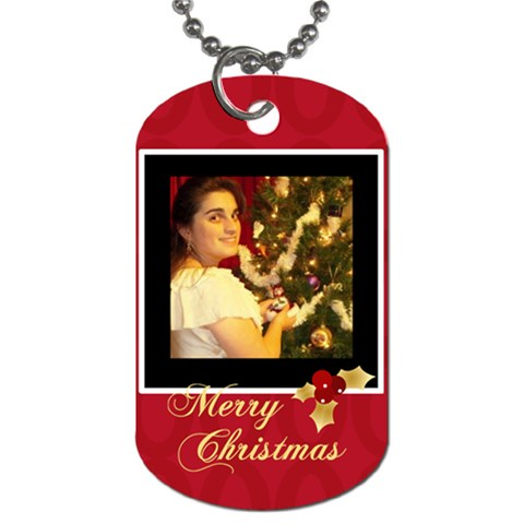 Xmas By May   Dog Tag (one Side)   Fdlvdo318v1b   Www Artscow Com Front