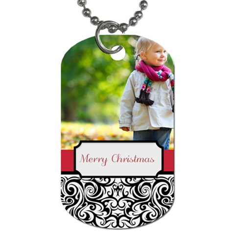 Xmas By May   Dog Tag (one Side)   7l7zxes4xsb1   Www Artscow Com Front
