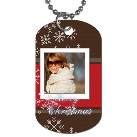 Xmas By May   Dog Tag (one Side)   Fhltqkxcam0r   Www Artscow Com Front