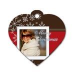 xmas - Dog Tag Heart (One Side)