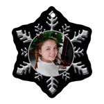 Silver snowflake ornament (2 sided) - Snowflake Ornament (Two Sides)