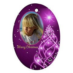 Christmas Oval Ornament 4 (2 Sided) By Deborah   Oval Ornament (two Sides)   Nral49cmd10s   Www Artscow Com Front