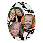 3 Photo Oval Ornament - Ornament (Oval)