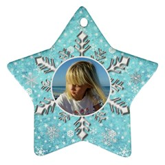 My Blue Snowflake Ornament (2 Sided) By Deborah   Star Ornament (two Sides)   D7n8druthyod   Www Artscow Com Front