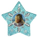 My blue snowflake ornament (2 Sided) - Star Ornament (Two Sides)