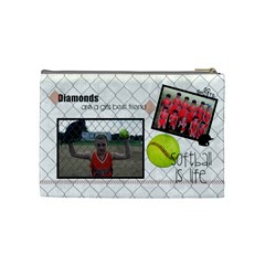 Softball Bag By Lana Laflen   Cosmetic Bag (medium)   Nghtrl2iqkzp   Www Artscow Com Back