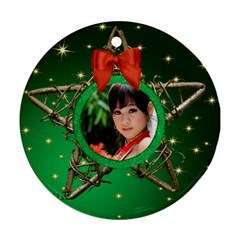 My Star Round Ornament (2 Sided) By Deborah   Round Ornament (two Sides)   T63vqvnjoyq4   Www Artscow Com Front