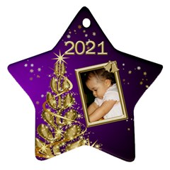 2016 Star Ornament (2 Sided) By Deborah   Star Ornament (two Sides)   Phnqcimvof8i   Www Artscow Com Front