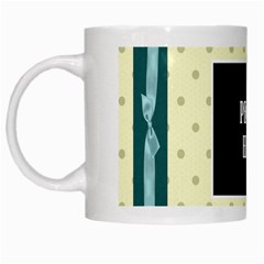 Covered In Teal Mug 1 By Lisa Minor   White Mug   Cduw8h0o047o   Www Artscow Com Left