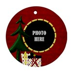Lone Star Holiday Round Ornament 1 - Ornament (Round)
