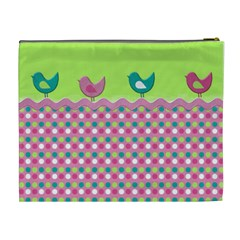 Birds By Wonder Smith   Cosmetic Bag (xl)   41cmn5lj6dzm   Www Artscow Com Back