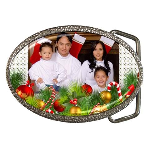 Christmas Belt Buckle By Deborah   Belt Buckle   F92offcsmjh2   Www Artscow Com Front