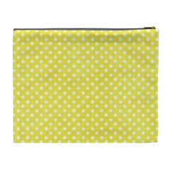 Yellow Dots By Wonder Smith   Cosmetic Bag (xl)   Nly136p410k5   Www Artscow Com Back