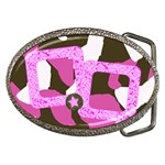 Pink Cammo Belt Buckle