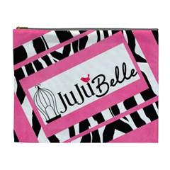 Pink Zebra By Wonder Smith   Cosmetic Bag (xl)   6uymvdqkzo8t   Www Artscow Com Front