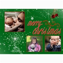 Christmas 2011 5x7 Photo Cards (x10)  By Picklestar Scraps   5  X 7  Photo Cards   Di39qdi2ypcs   Www Artscow Com 7 x5 Photo Card - 9