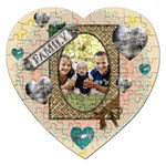 Family Heart Puzzle - Jigsaw Puzzle (Heart)