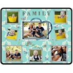 Family Love Blue Medium Fleece Blanket - Fleece Blanket (Medium)