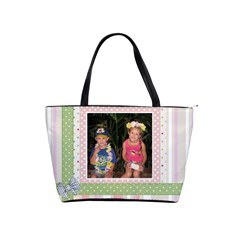 Pink And Green By Rachel Allen   Classic Shoulder Handbag   Ei0ismvuyf0x   Www Artscow Com Front