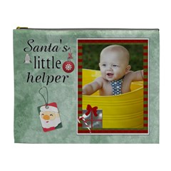 Santas Little Helper Xl Cosmetic Bag By Lil    Cosmetic Bag (xl)   Kp4iwg9x81t7   Www Artscow Com Front