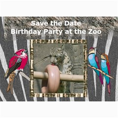 Zoo Party Invitation By Kim Blair   5  X 7  Photo Cards   4wnwahto6vxn   Www Artscow Com 7 x5 Photo Card - 4