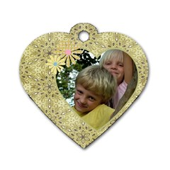 My Little Heart Dog Tag (2 Sided) By Deborah   Dog Tag Heart (two Sides)   Gwpa9sxx0vpm   Www Artscow Com Front