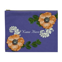 Xl Cosmetic Case: Big Flowers3 By Jennyl   Cosmetic Bag (xl)   69oj6s5829og   Www Artscow Com Front