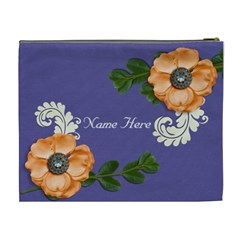 Xl Cosmetic Case: Big Flowers3 By Jennyl   Cosmetic Bag (xl)   69oj6s5829og   Www Artscow Com Back