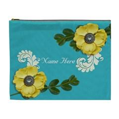 Xl Cosmetic Case: Big Flowers4 By Jennyl   Cosmetic Bag (xl)   B9nj4w853b42   Www Artscow Com Front