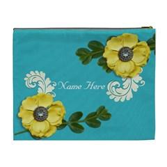 Xl Cosmetic Case: Big Flowers4 By Jennyl   Cosmetic Bag (xl)   B9nj4w853b42   Www Artscow Com Back