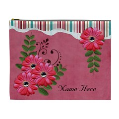 Xl Cosmetic Case: Big Flowers7 By Jennyl   Cosmetic Bag (xl)   2syqzfeq9hlu   Www Artscow Com Front