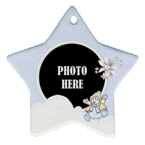 Five Little Snowman Star Ornament 1 By Lisa Minor   Ornament (star)   Nw38yx5hj7fd   Www Artscow Com Front