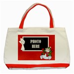 Five Little Snowmen Tote 1 - Classic Tote Bag (Red)