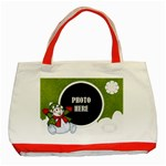 Five Little Snowmen Tote 2 - Classic Tote Bag (Red)