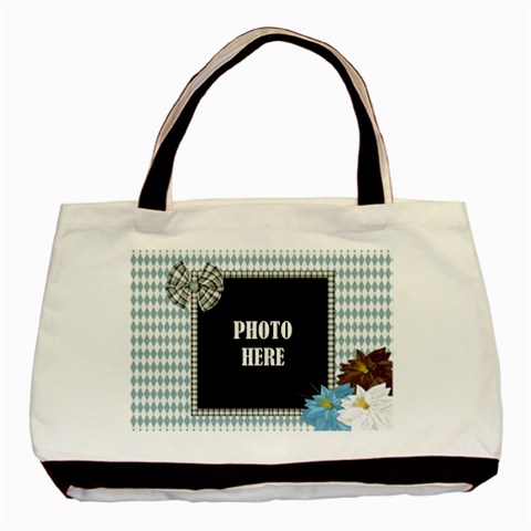 Crossing Winter Tote 1 By Lisa Minor   Basic Tote Bag   8h3mpz4fisgk   Www Artscow Com Front