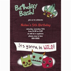 5x7 Monster Birthday Card By Lana Laflen   5  X 7  Photo Cards   Mujd9sszwmmd   Www Artscow Com 7 x5 Photo Card - 1