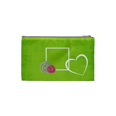 Green Cosmetic Bag (s) By Elena Petrova   Cosmetic Bag (small)   73r8kx8l6h27   Www Artscow Com Back