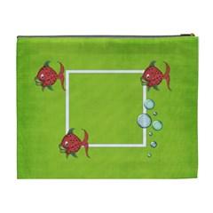 Green Cosmetic Bag (xl) By Elena Petrova   Cosmetic Bag (xl)   5uqf46e97vlz   Www Artscow Com Back