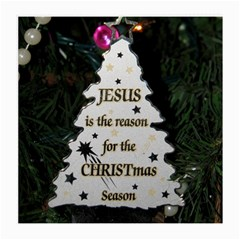 Jesus Is The Reason Single Sided Large Glasses Cleaning Cloth by tammystotesandtreasures