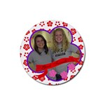ambur and erin - Rubber Coaster (Round)