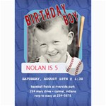 Birthday Boy Card - 5  x 7  Photo Cards