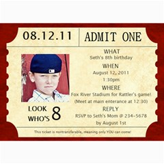 Baseball Ticket Birthday Invite By Lana Laflen   5  X 7  Photo Cards   Biuhg2ibyowt   Www Artscow Com 7 x5 Photo Card - 8